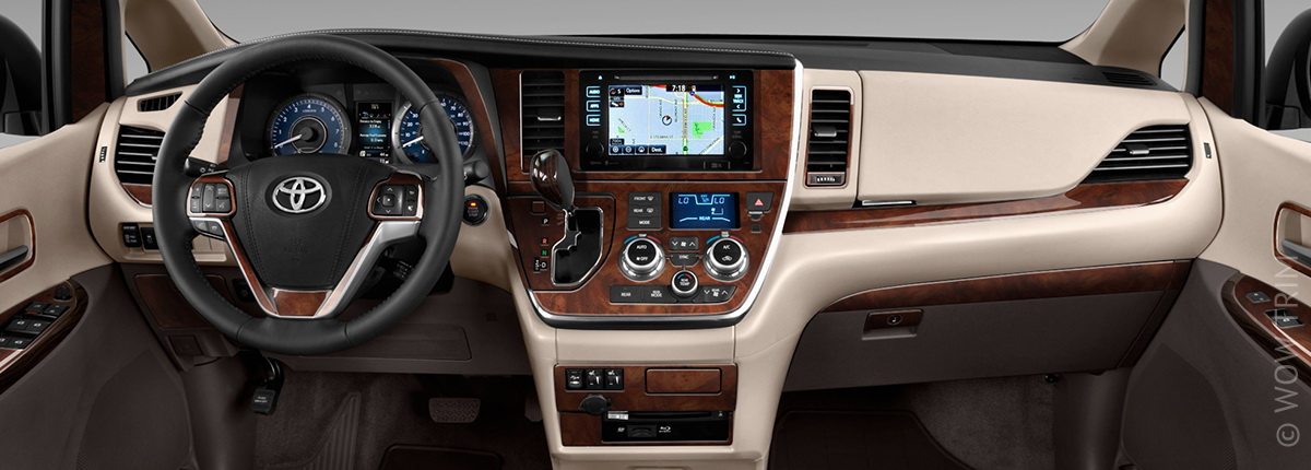 Dash Kits For Toyota Sienna Wood Grain Camo Carbon