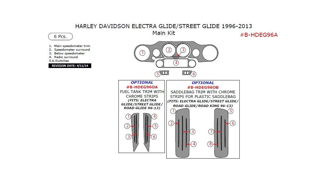 Harley Davidson Electra/Street Glide 1996-2013, Main Kit