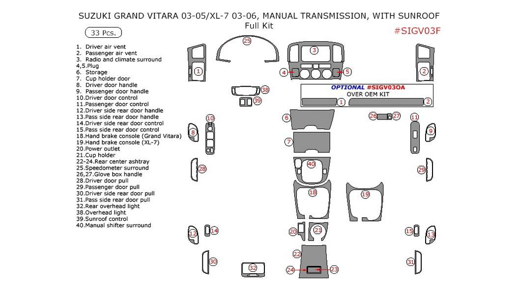 Suzuki Grand Vitara 2003-2005, Suzuki XL-7 2003-2006