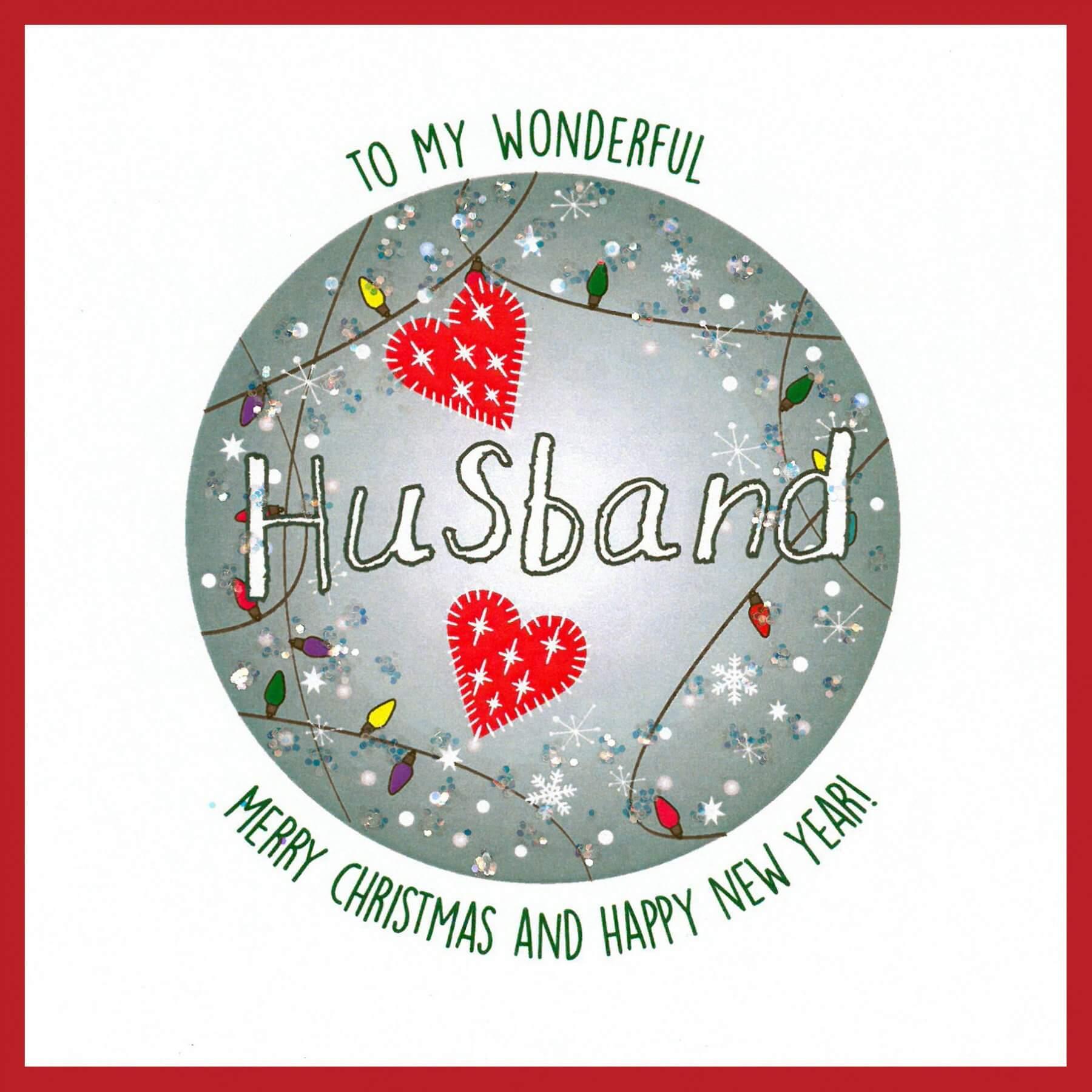 Wonderful Husband Merry Christmas  a Happy New Year