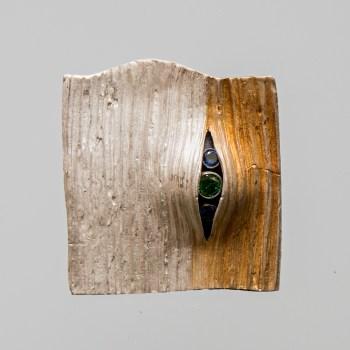 Srebrny broszko-wisior Pęknięty z cyrkoniami