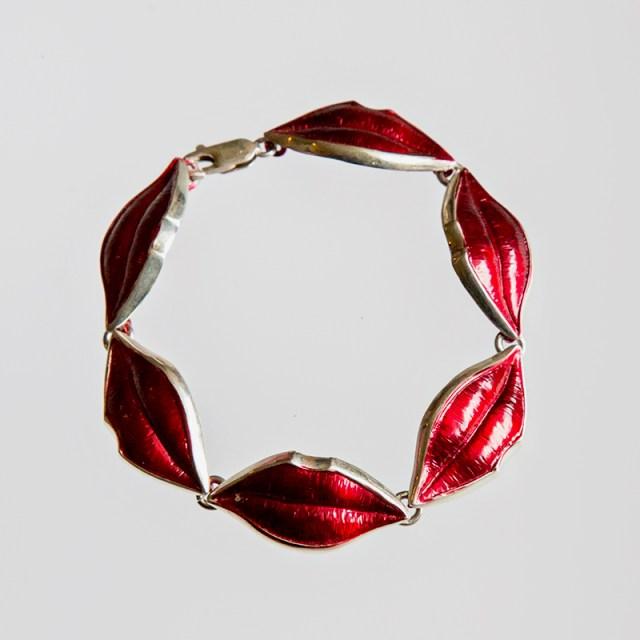 Srebrna bransoleta Małe Usta + elektroforeza