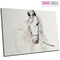 A657 WHITE ABSTRACT Horse Sketch Animal Canvas Wall Art ...