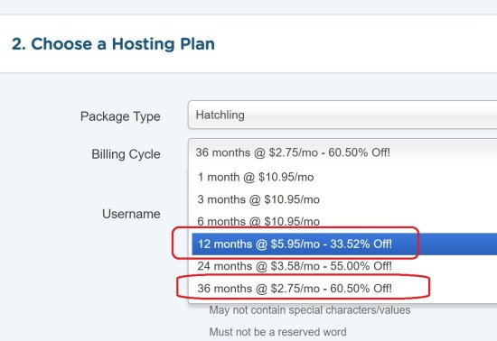Hostgator's Actual 12 Month Prices