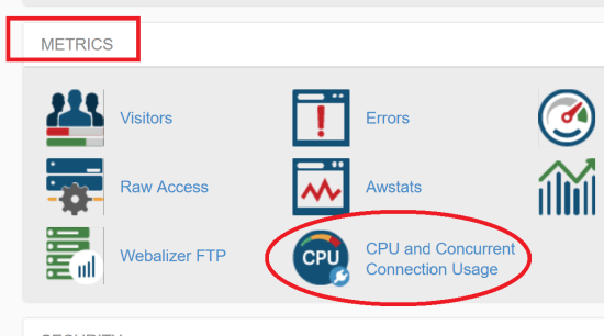 CPU Usage and Connections in cPanel