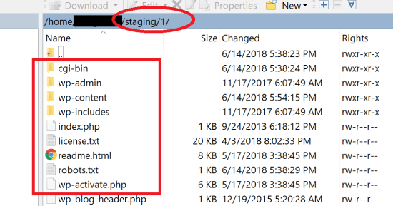 Staging Files Inside Numbered Folders