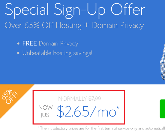 $2.65 Month Offer