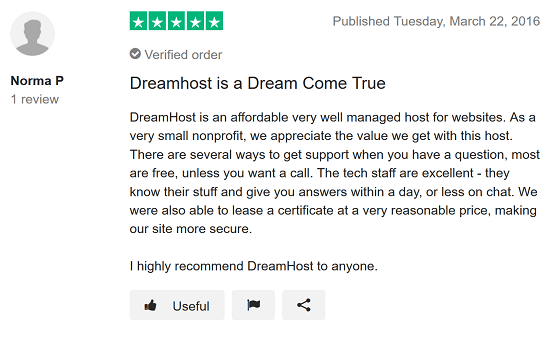 DreamHost Review 3 - Excellent Support