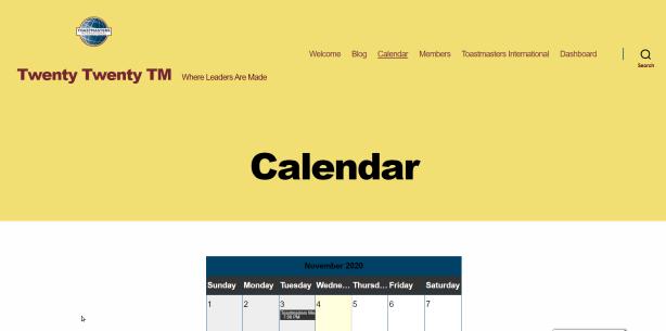 Screenshot: Twenty Twenty TM default template