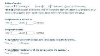 Agenda Time Planner and Agenda Editing Demo (April 2021)