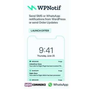 WPNotif – WordPress SMS & WhatsApp Message Notifications