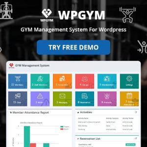 WPGYM – WordPress Gym Management System
