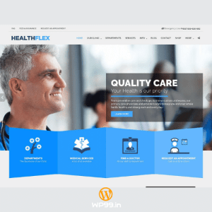 HEALTHFLEX – Doctor Medical Clinic & Health WordPress Theme