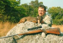 World Record Blue Duiker hunted at Shiwa Ngandu 2.5' in 2003