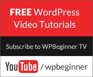 Free WordPress Video Tutorials on YouTube by WPBeginner