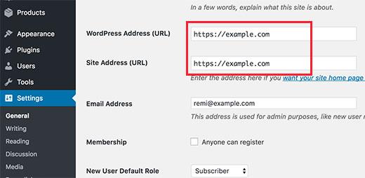 Change WordPress URL to use HTTPS