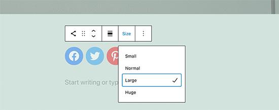 Social icon size