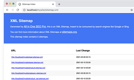 XML Sitemaps in All in One SEO
