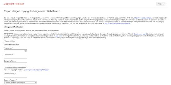 Google Search Console stolen content report