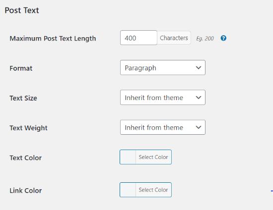 Edit post types elements