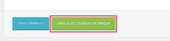 Save settings and start image optimizer
