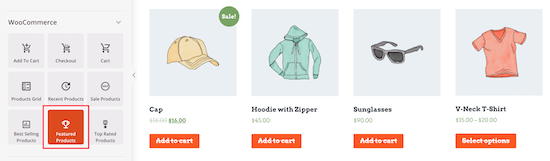 WooCommerce featured products block