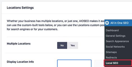 Choose single or multiple locations