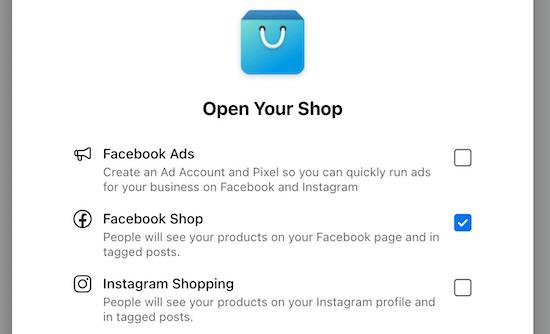 Open shop checkboxes