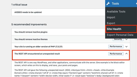 REST API issue in WordPress