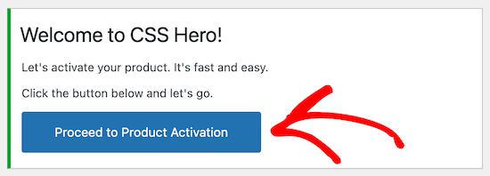 Activate CSS Hero plugin