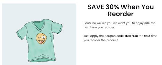 Display coupon code