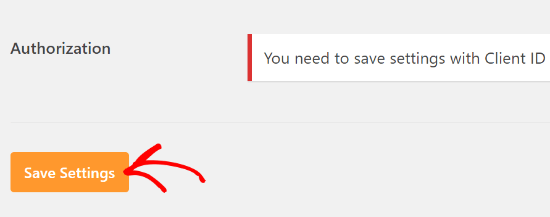 Save settings in WP Mail SMTP
