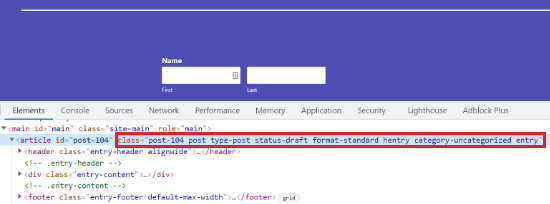 Default CSS for specific post in WordPress