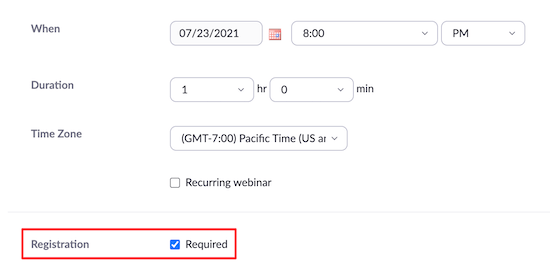 Zoom webinar registration required