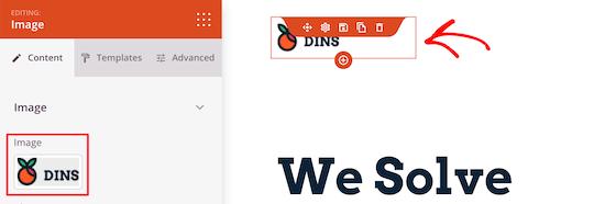 Change menu logo