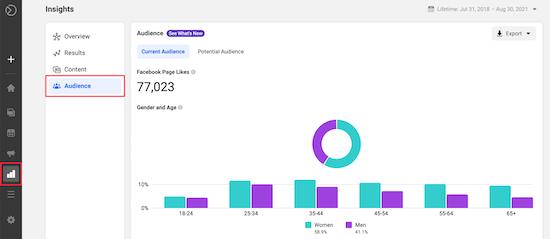 Facebook audience insights follower information