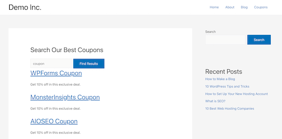 Custom post type search form example