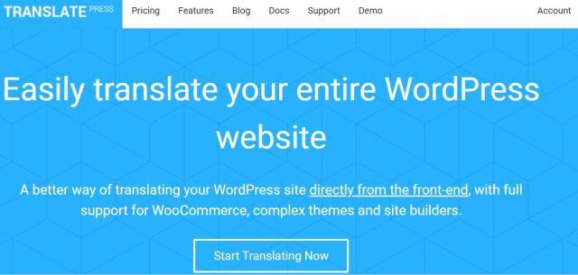 TranslatePress wordpress language plugin