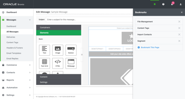 Oracle Bronto automation marketing tool