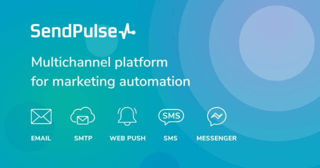 SendPulse marketing automation tool