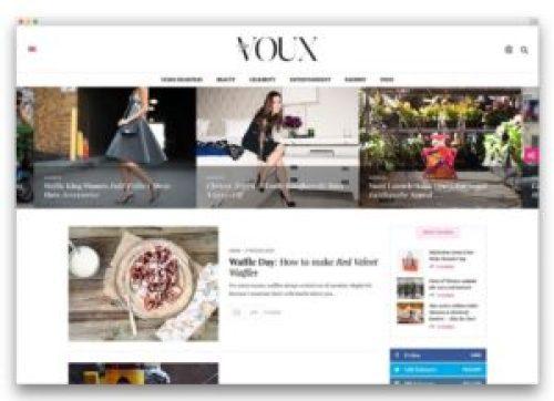 Tema Voux WordPress