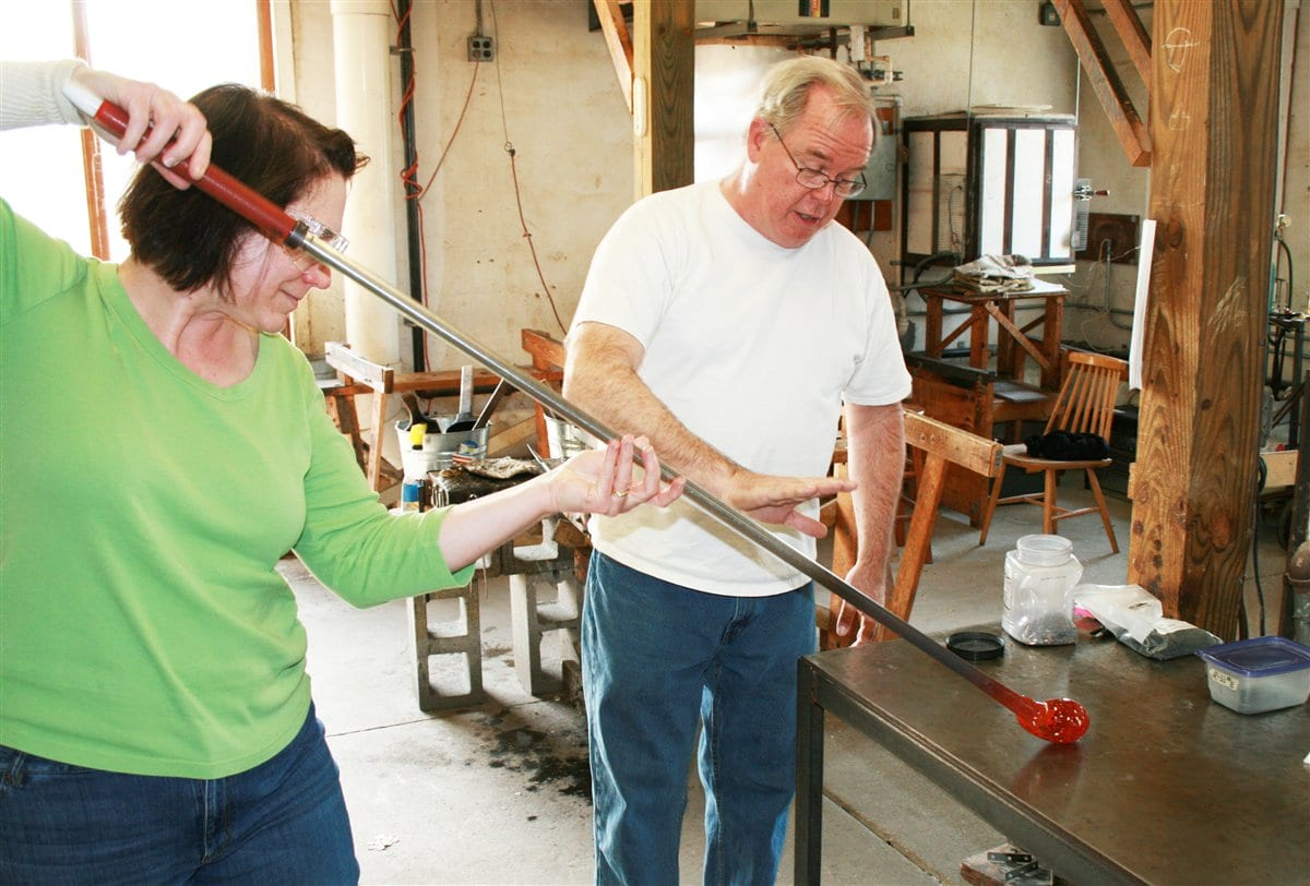 GLASSBLOWING CLASS <br/> Donated by: ART OF FIRE <br/> Valued at: $55