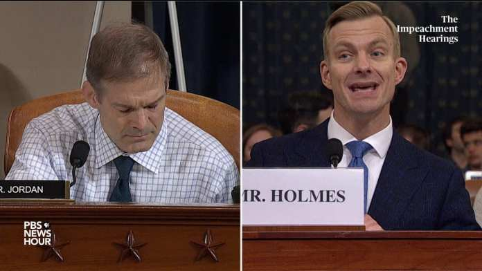 WATCH: 'It was obvious' what Trump wanted from Ukraine, Holmes tells Rep. Jordan