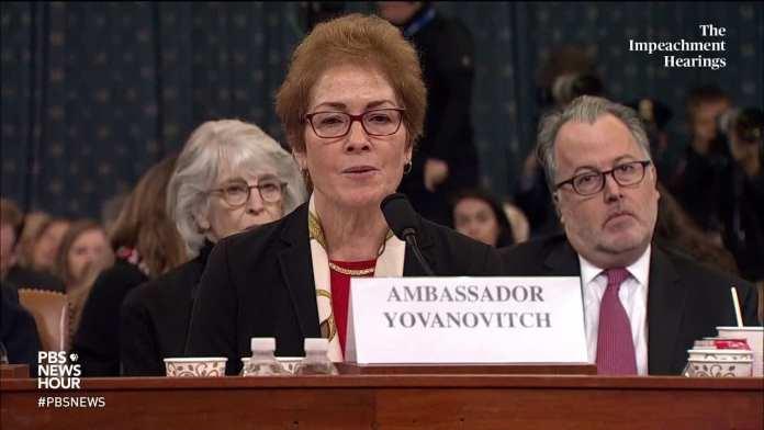 WATCH: Amb. Yovanovitch said Sondland told her to 'praise the president'