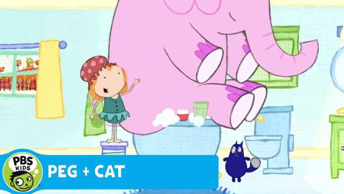 PEG + CAT | Math in the Bath – Elephant in the Tub | PBS KIDS