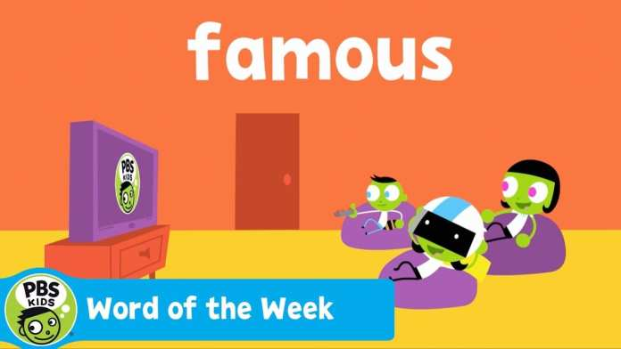 WORD OF THE WEEK   Famous   PBS KIDS