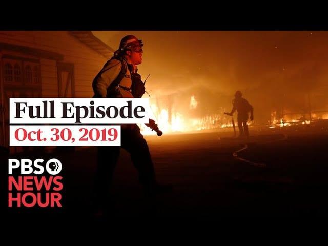 PBS NewsHour full episode October 30, 2019