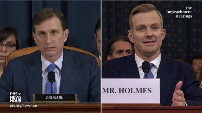 WATCH: Holmes recalls Trump asking about the 'investigation' in phone call