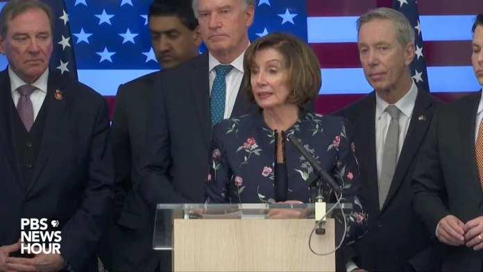 WATCH LIVE: Speaker Pelosi speaks with Congressional delegation at NATO headquarters in Belgium