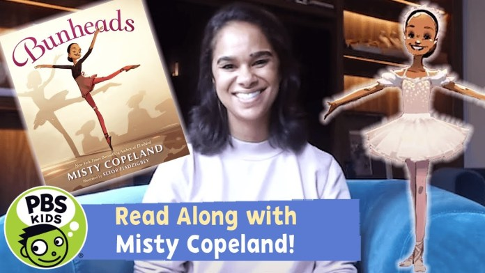 READ ALONG with MISTY COPELAND! | Bunheads | PBS KIDS